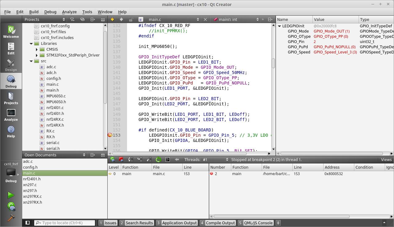 Debugging STM32 from QtCreator – Bart Slinger